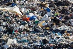 Landfill landscape Stock Images