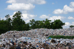 Landfill in the nature Royalty Free Stock Photography