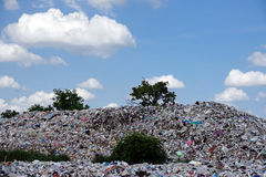 Landfill in the nature Stock Images