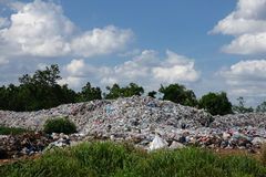 Landfill in the nature Stock Photo