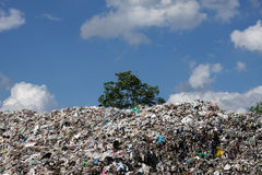 Landfill in the nature Royalty Free Stock Photos