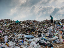 Landfill in Thailand Stock Photography