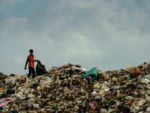 Landfill in Thailand Royalty Free Stock Photo