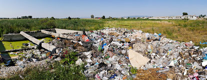 Landfill trash Stock Images