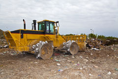 Landfill Trash Mover Royalty Free Stock Photography