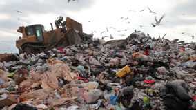 Landfill truck stock footage
