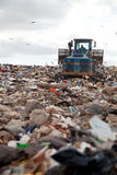Landfill vertical royalty free stock photo