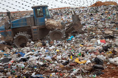 Landfill vertical Stock Image