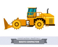 Landfill waste compactor Royalty Free Stock Image