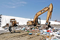 A landfill site Royalty Free Stock Photography