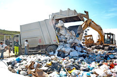 A landfill site Stock Photography