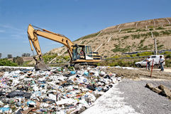 A landfill site Royalty Free Stock Images