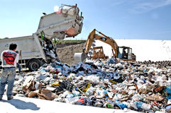 A landfill site Royalty Free Stock Image