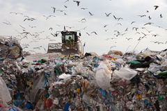 Landfill waste stock photo