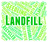 Landfill Word Represents Waste Management And Disposal. Landfill Word Indicating Refuse Heap And Waste Royalty Free Stock Images