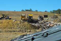 Landfill working face Stock Images
