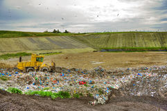 Landfill working Royalty Free Stock Photo