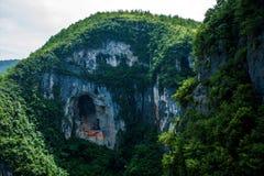 Landform каньона парка Чунцина Yunyang Longtan национальный геологохимический Стоковые Фото