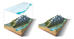 Landform 3D Stockbild