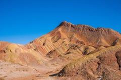 Landform Danxia Zhangye αναρωτιέται εθνικό Geopark Στοκ Εικόνες