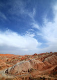 Landform Danxia Zhangye Στοκ Εικόνες