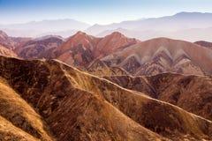 Landform Danxia в Zhangye Стоковая Фотография