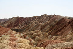 Landform Danxia Zhangye Στοκ φωτογραφία με δικαίωμα ελεύθερης χρήσης