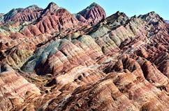 Landform de Danxia Foto de Stock Royalty Free