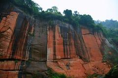 Landform de Danxia em Chishui foto de stock