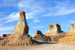 Landform di erosione del loess Fotografia Stock