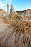 Landform di erosione del loess Fotografia Stock Libera da Diritti