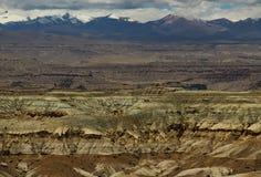 Landform di morfologia carsica nel Tibet Fotografia Stock