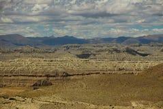 Landform di morfologia carsica nel Tibet Fotografie Stock Libere da Diritti