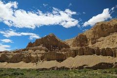 Landform di morfologia carsica nel Tibet Immagine Stock