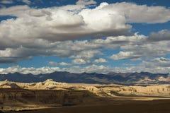 Landform di morfologia carsica nel Tibet Immagini Stock Libere da Diritti