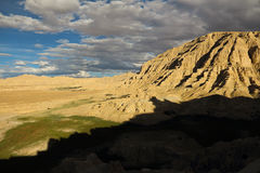 Landform di morfologia carsica nel Tibet Fotografie Stock
