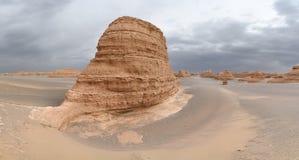 Landform di Yardang a Dunhuang immagine stock
