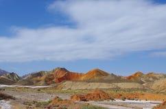 Landform van Danxia Stock Fotografie