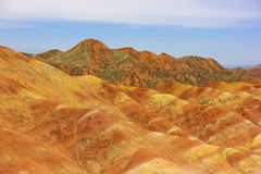 Landform Zhangye Danxia Стоковое Изображение RF