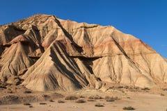 Landforms in Bardena Blanca Stock Image