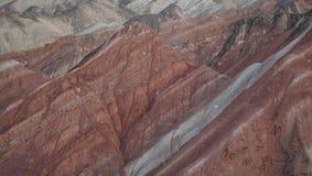 Landforms coloridos do Danxia de China da visita fotos de stock
