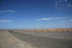 Landforms de Yadan no deserto de Gobi Dunhuang China Foto de Stock Royalty Free