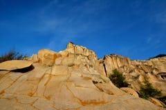 Landforms del granito di alterazione causata dagli agenti atmosferici, Fujian, Cina Fotografia Stock