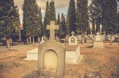 Landfriedhof lizenzfreie stockfotos