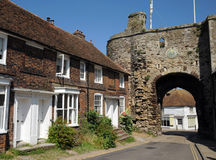 Landgate fortified gatehouse. Rye West Sussex. Stock Image