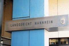 Landgericht Mannheim imágenes de archivo libres de regalías