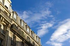 Landgoed, dat Parijs inbouwt stock foto