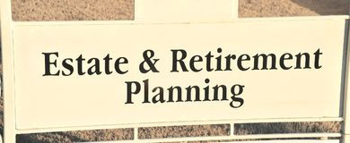 Landgoed en Pensionering Planning royalty-vrije stock afbeelding