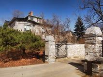 Landgoed met poorten Royalty-vrije Stock Afbeeldingen