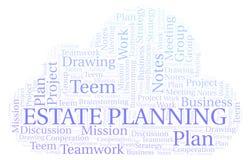 Landgoed Planningsword Wolk vector illustratie